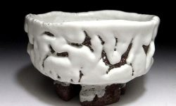 Melting Snow Tea Bowl by Seigan Yamane